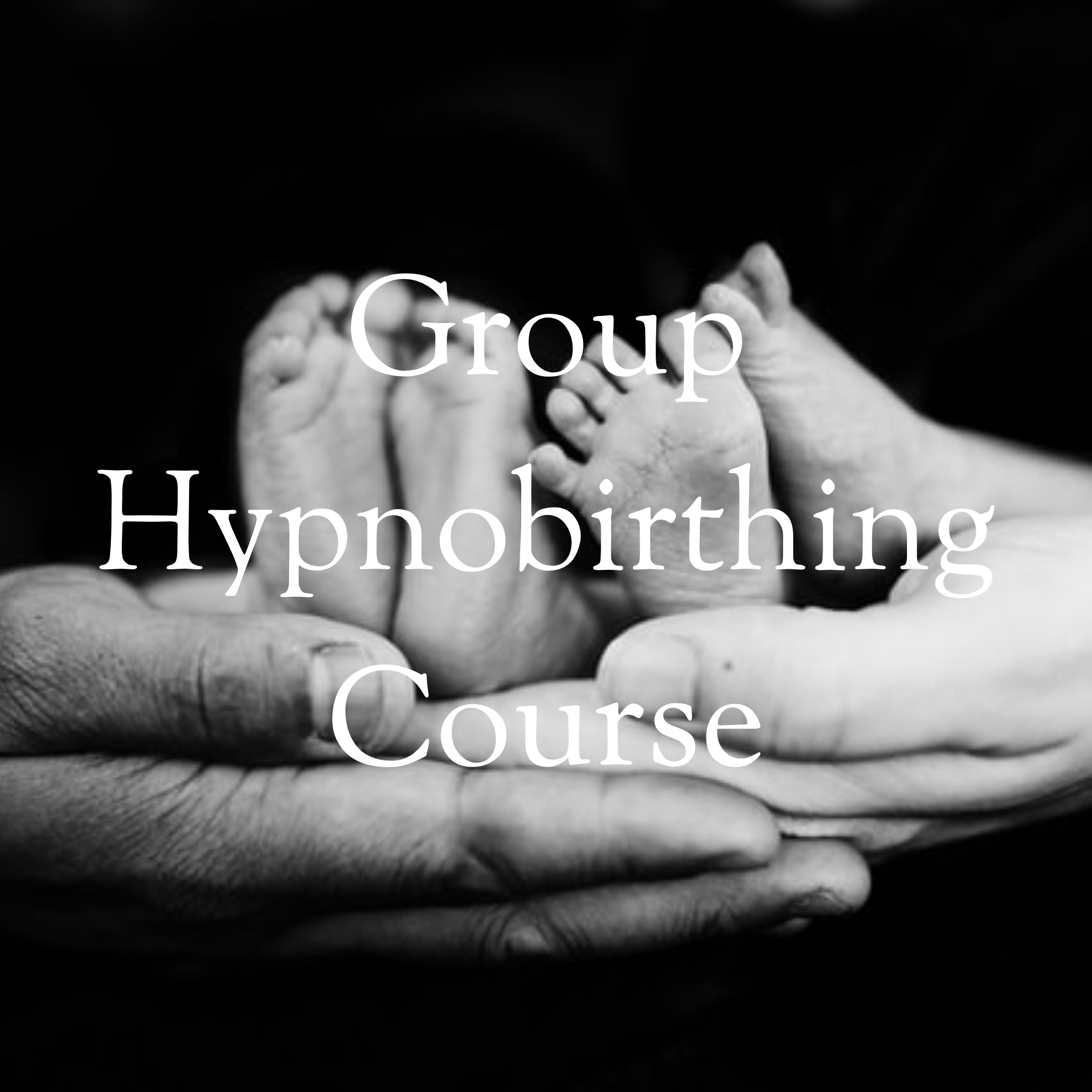 Set of feet and hands for group hypnobirthing